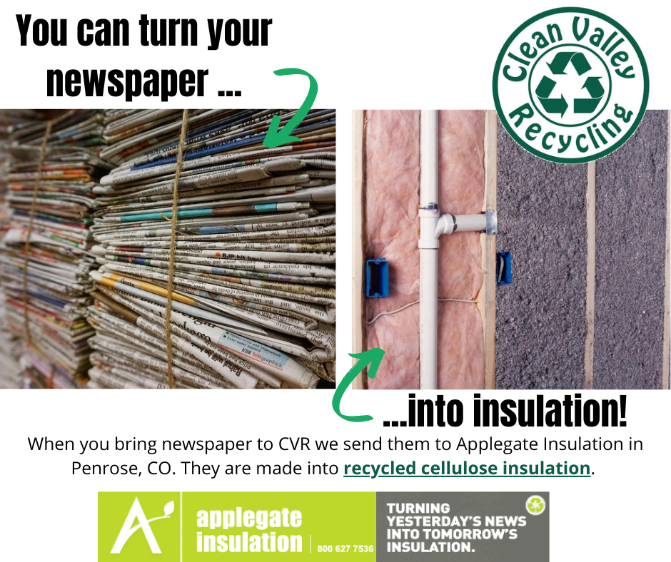 You can turn old newspapers into recycled insulation