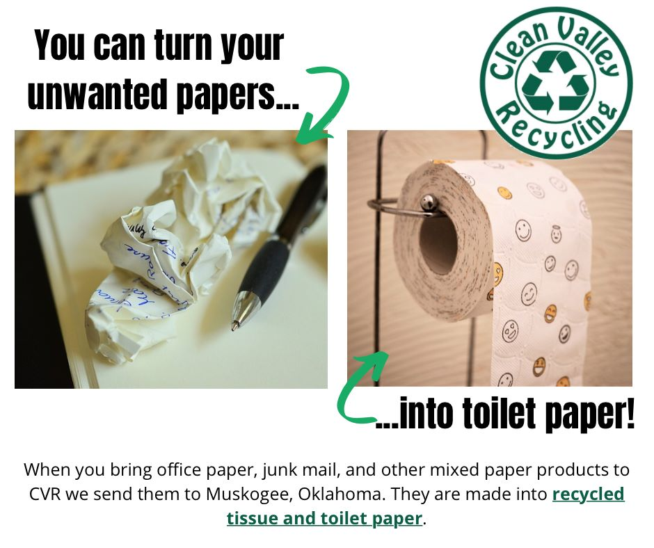 You can turn junk mail and unwanted papers into toilet tissue