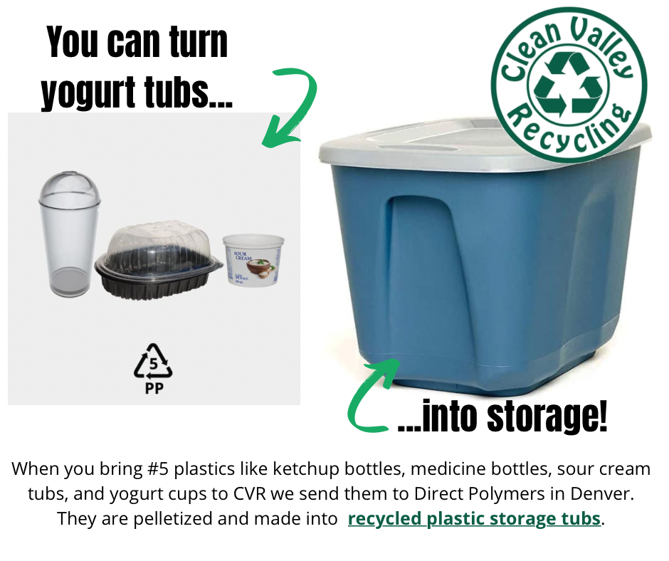 You can turn yogurt tubs into recycled storage tubs